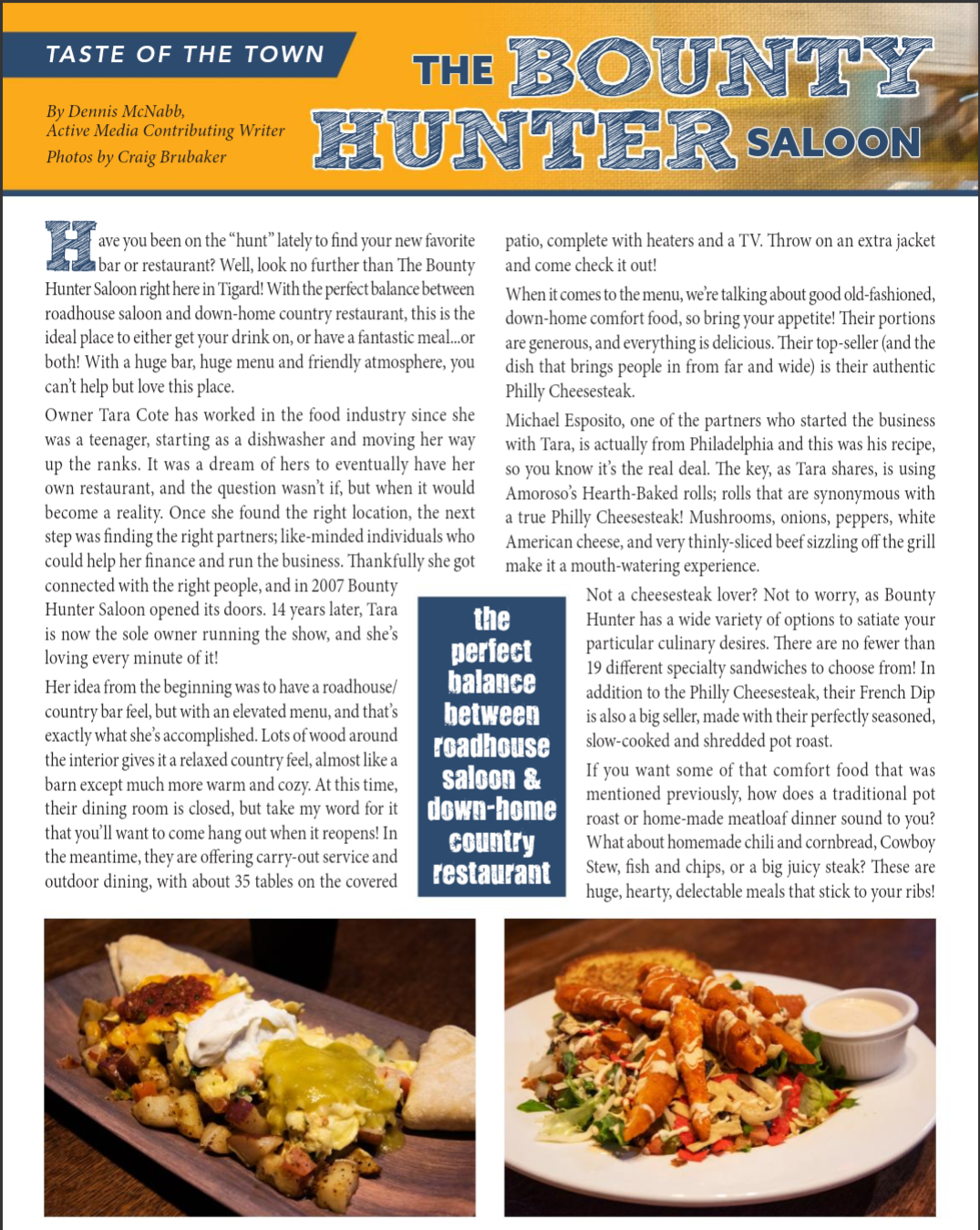 Taste of The Town - The Bounty Hunter Saloon